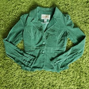 Forever 21 Faux Suede Green Jacket